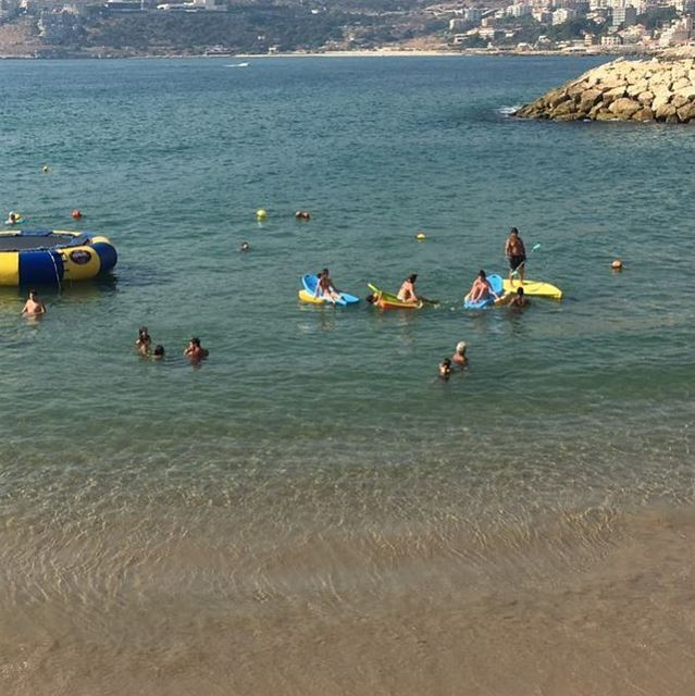 Amazing clear blue water today!🏖 beach lamedinabeach jounieh lebanon ...