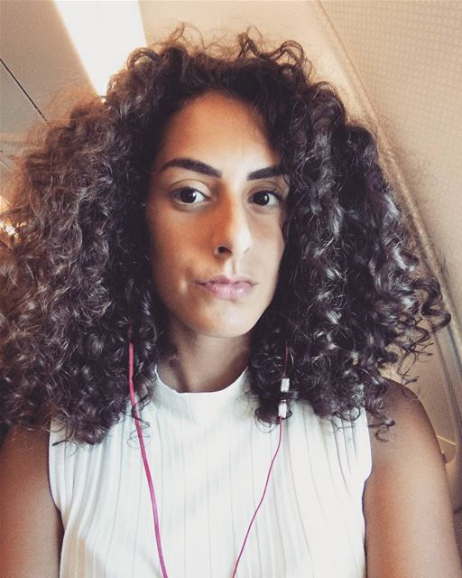 🐏🐏🐏 curlyhair curlyhairdontcare lebanon plane flight music bored...