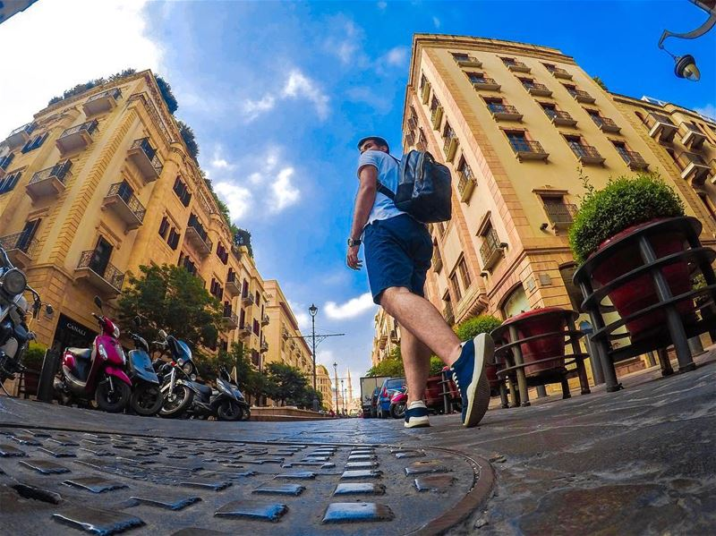 There is nothing better then exploring the city at the early morning with... (Downtown Beirut)