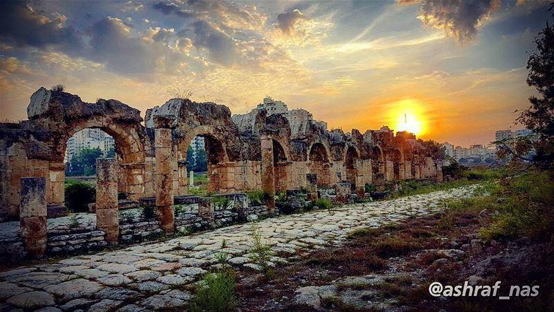 وإمشي على طرقات منسيّةدنية غياب ورح يبيت الطير...انطر شي إيد تسلّم علييش (Roman ruins in Tyre)