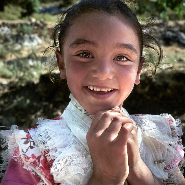 Dressed like a little duchess this Syrian refugee girl stopped me with...
