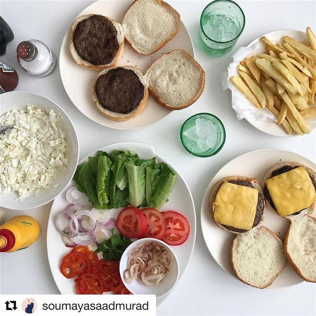 Repost @soumayasaadmurad (@get_repost)・・・🍔🍟🍷🥗🍴bon appétit! ...