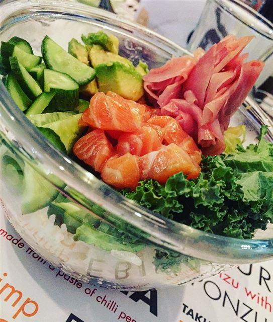 Poke goodness poke lebanesebucketlisters sushinabowl salmon sushi ... (Ahi Poke Beirut)