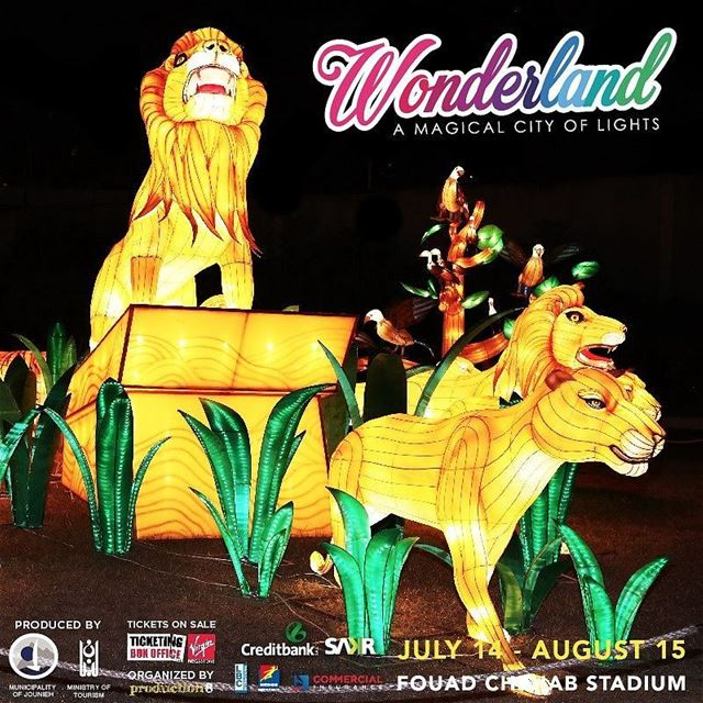 "The King of the jungle has arrived!Visit WONDERLAND ""A Magical City of..."