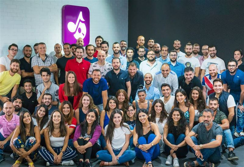 Today I took a photo of Anghami team. There's 80 of us now, and we're...