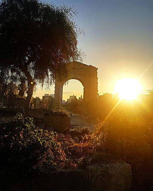 tbt to that sunset explosion over the Roman ruins in Tyre. ... (Roman ruins in Tyre)