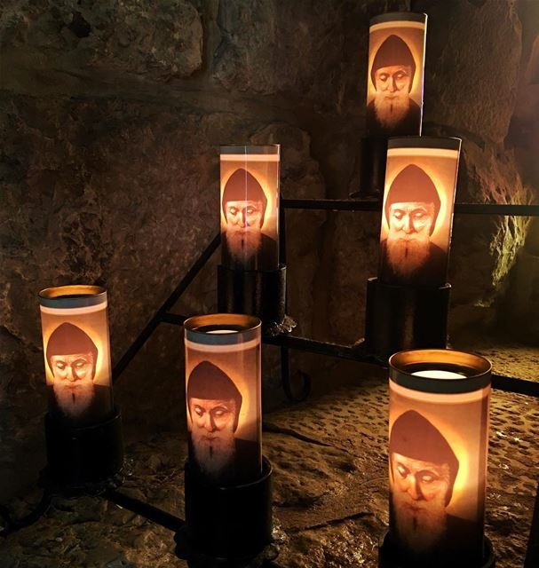 شربل Saint Charbel candles live love pray Lebanon Annaya 🙏🏻