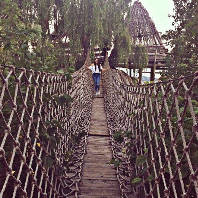 The hardest thing in life is to know wich bridge to cross, and wich to... (Adghal Restaurant - Feytroun)