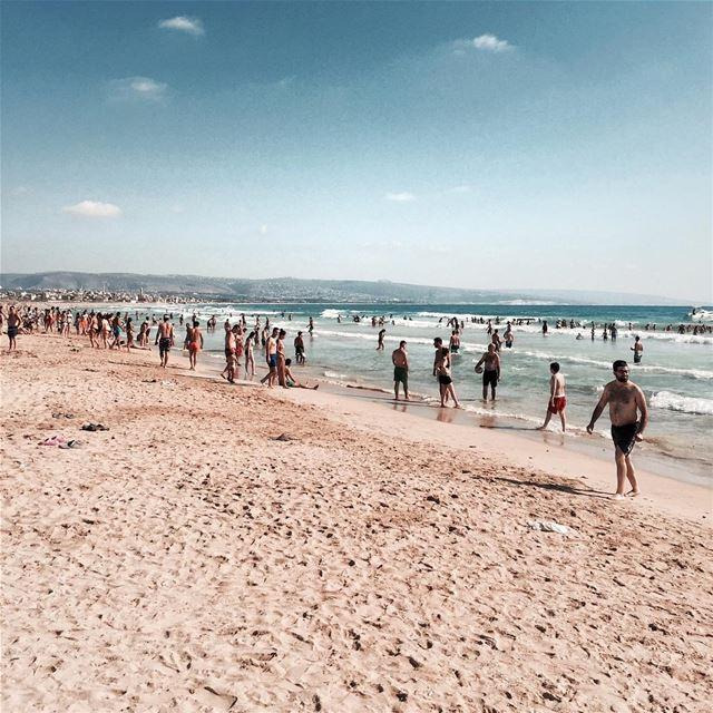 Sun ☀️ Sea 🌊 the sand 🏖and me Beirut beach outdoor iamatraveler earth.... (Cloud 59)
