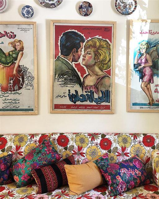 الحياة حلوة 🌸🌺 beitelqamar livingroom chouf vintage lebanon hotel ... (Beit El Qamar)