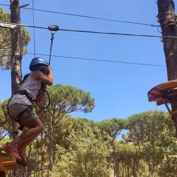 ziplining in the beautiful mountainsoflebanon amongst the pinetrees... (Swings)
