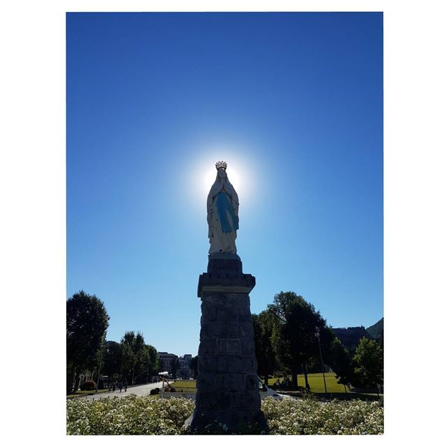 Our mother...Pray for us! HaveABlessedSunday sunshades--- TakeMeTo ... (Sanctuary of Our Lady of Lourdes)