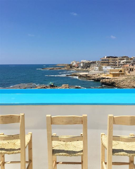 Summer vibes at the roof @albaydar.anfeh 🏖 Enfeh, Lebanon 🇱🇧........ (Enfeh)