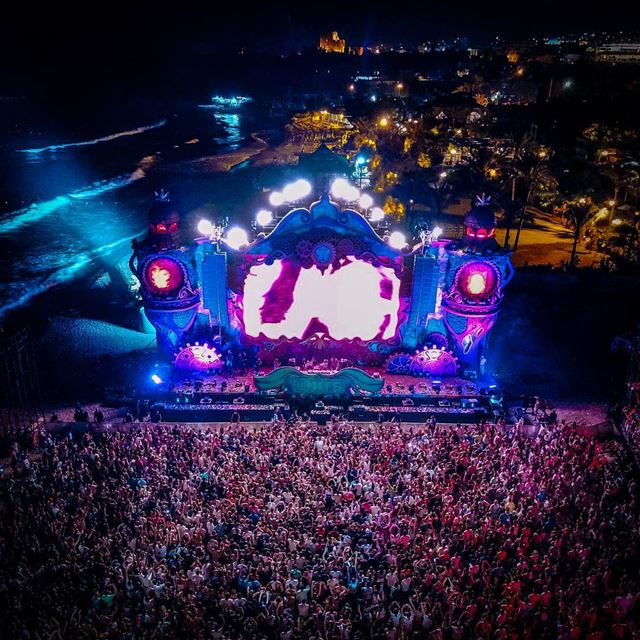 The beach, the crowd, the stage and the citadel. TomorrowLand Lebanon ・・ (Byblos, Lebanon)
