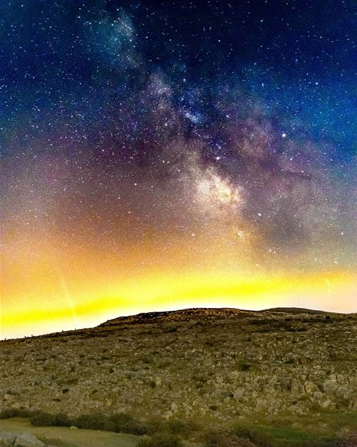 The milkyway from Houmine Al Fawka - Lebanon milkyway astronomy night ...