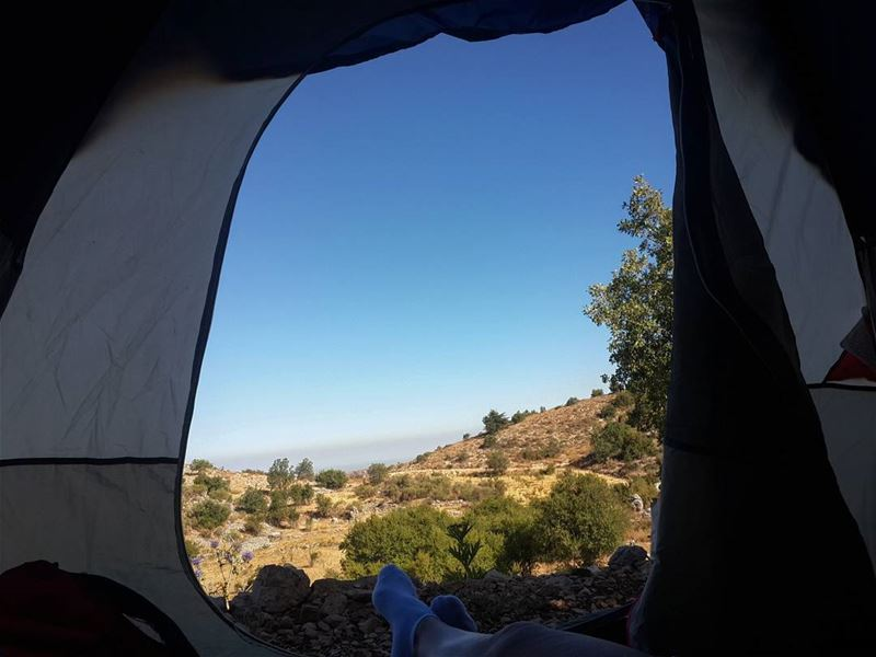 Home is where you pitch your  tent goodmorning  vacationmode with  mylove...