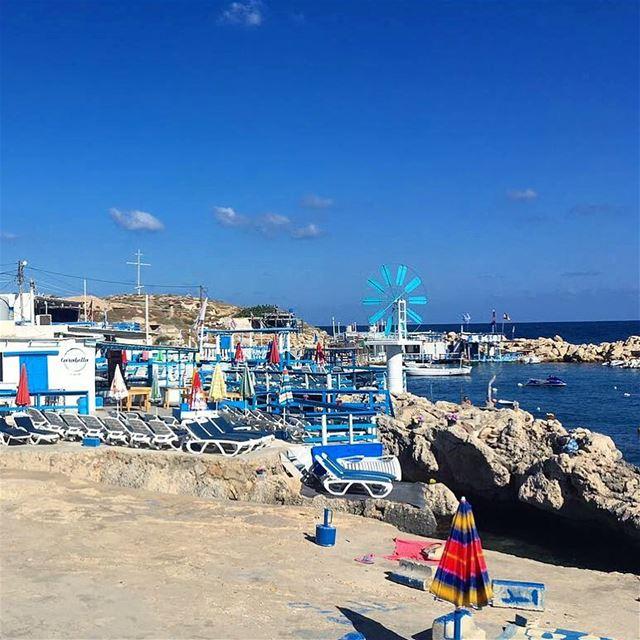 Anfeh by the sea - aka Anforini 💙💙 bluesky sun beach photography ... (Ta7t El Ri7 - Anfeh)
