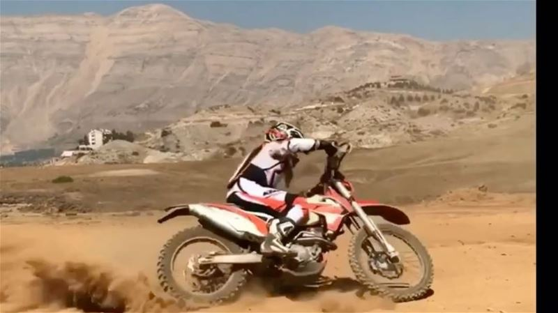 I got it from my mama 😂thanks mum for teaching us how to ride when we... (Faraya, Mont-Liban, Lebanon)