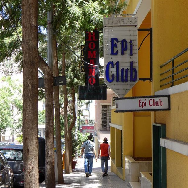 A name with lots of memories and nostalgia... the Epi-Club, a trendy night... (Ain El Mreisse, Beyrouth, Lebanon)