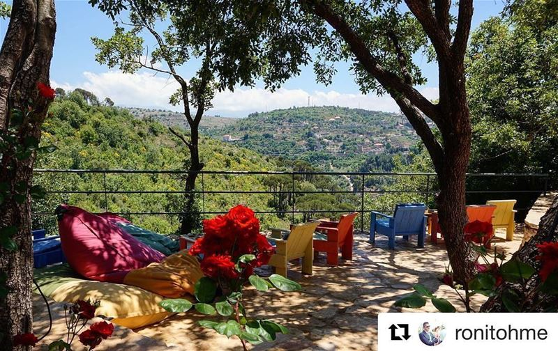 Repost @ronitohme Beit El Qamar...Aspire for a peaceful and cool...