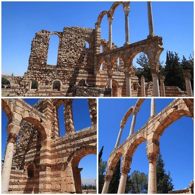 anjar anjartemple temple temples templecity old histor... (`Anjar, Béqaa, Lebanon)