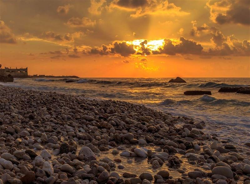 sunset beirut cloudysky landscape nature ig_lebanon insta_lebanon... (Khaldah, Mont-Liban, Lebanon)