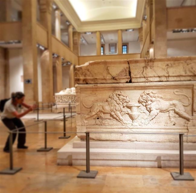 Paparazzi at the museum. beirut  travel  archaeology  sarcophagus ...