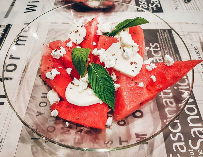 "Вкусняшка по-русски ниже ⬇️""Watermelon is a good fruit - you eat, you... (Sandwiched Antelias)"