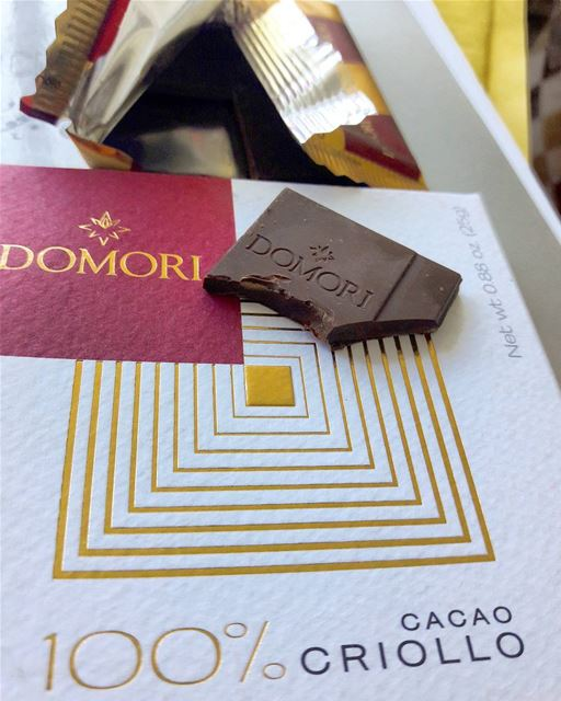 The bitterest chocolate I've ever taste! 100% cacao! Domori ...