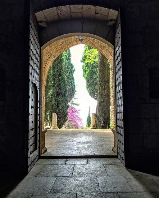 Through doors of the past... gardendesign shadowsandlight ... (Beit Ed-Deen, Mont-Liban, Lebanon)