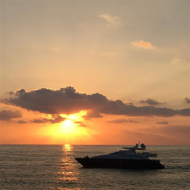 lebanon beach clouds sky view beirut sun summer sunset boat ...