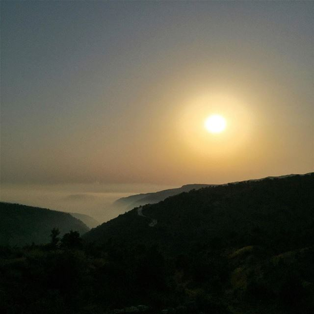 Above the clouds, to the Sun Road Clouds Sun LiveLoveLebanon ... (Majdal Tarshish, Mont-Liban, Lebanon)