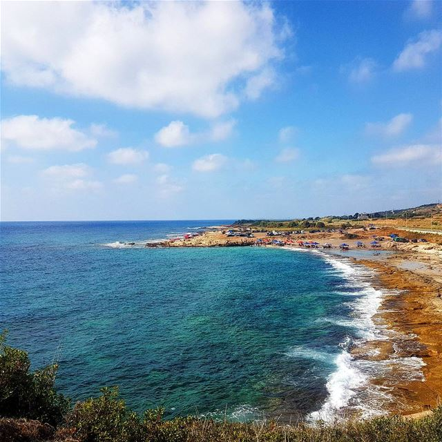 tbt to the clear sea of naqoura Lebanon sun beach sands clouds ... (الناقورة / Al Naqoura)