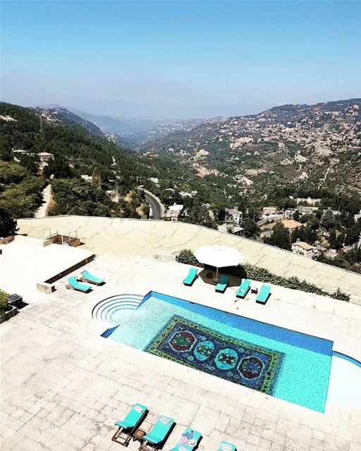 Good morning Lebanon! It's a beautiful day. 😙 Hope you enjoy the view... (Mir Amin Palace Hotel)