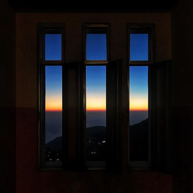 beauty of sunset 🌅 ourview sunsetfrommywindow livelovelebanon ... (Bckaatet Achkout)