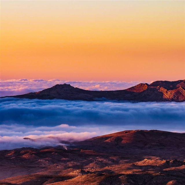 Akoura and Laklouk as seen from Mzaar, on a beautiful evening 🏔️ fog ...