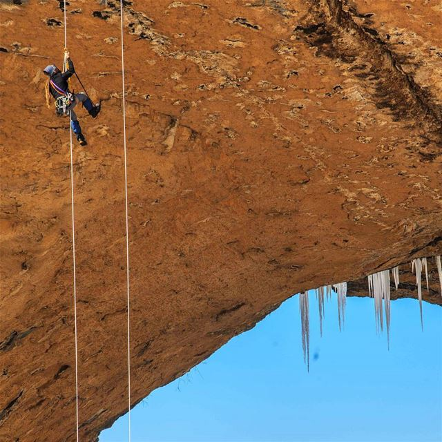 climbing climber rockclimbing nature adventure outdoors ... (Natural Bridge Kfardebian)