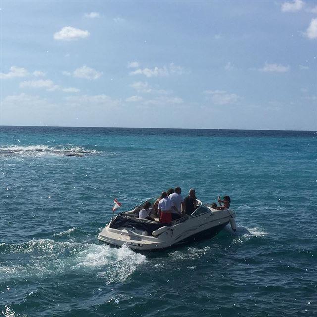 mediterranean summer clearsky bluesea byblos livelovelebanon boat ... (Byblos, Lebanon)