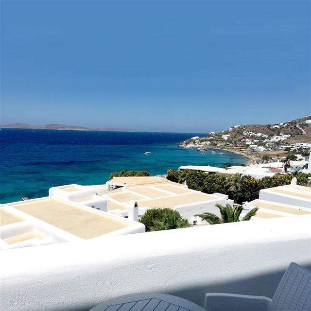 The Relaxing views of Mykonos Mediterranean travelgram photooftheday ... (Saint John Hotel Resort Mykonos)