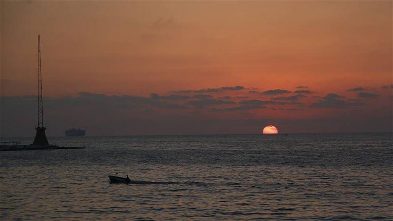 Another beautiful sunset at Beirut Bay... sunset beautiful nature ... (Beirut, Lebanon)