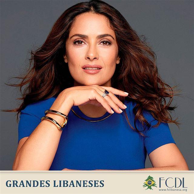 🇱🇧🇲🇽 Descendente de libaneses por parte de pai, a mexicana Salma Hayek...