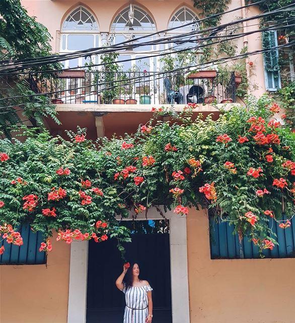 Италия напоминает мне Ливан - море, зелень, вкусная еда, древние колонны и... (Achrafieh, Lebanon)