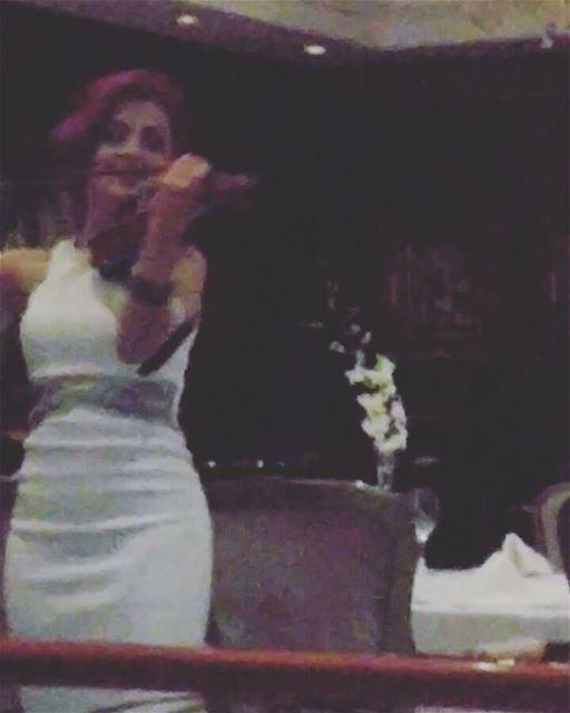Enjoying leciel dinner romantic music oldies oldiesmusic foodlovers... (Hilton Beirut Habtoor Grand)