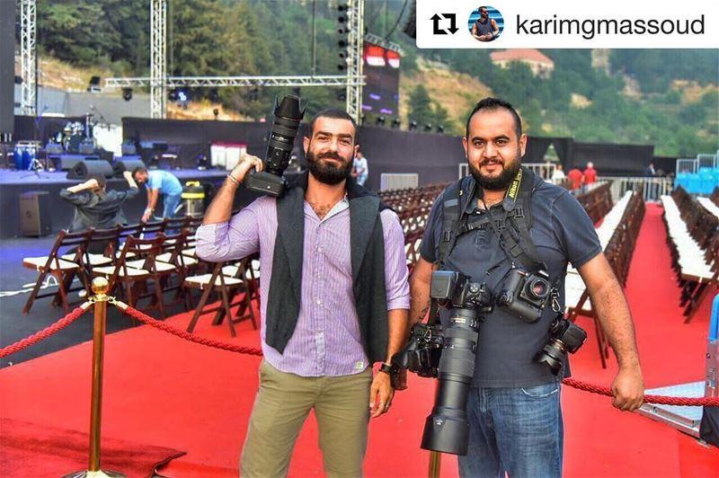 Repost @karimgmassoud👏🏻The power team: media & photography 🎥 📸📺... (Ehdeniyat International Festival)