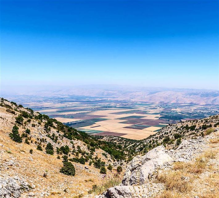 The Biqaa Valley. View from Barouk Mt. ... (Arz el Chouf)