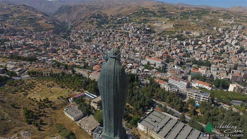 سيدة زحلة - البقاع saydetzahle church lebanon dji phantom4 ...