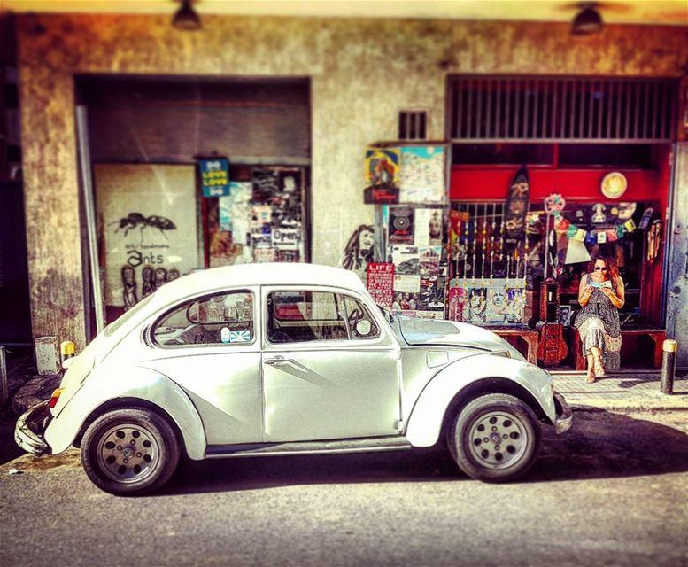 Boho B typical scene bohemiam beirut vw volkswagen beetle lebanon ... (Beirut, Lebanon)
