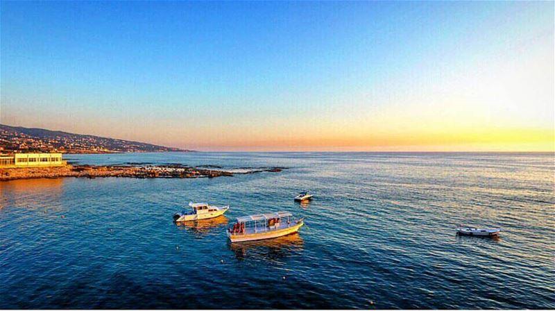 batroun batrounbeach batrouncoast sea mediterraneansea sunset ... (Batroûn)
