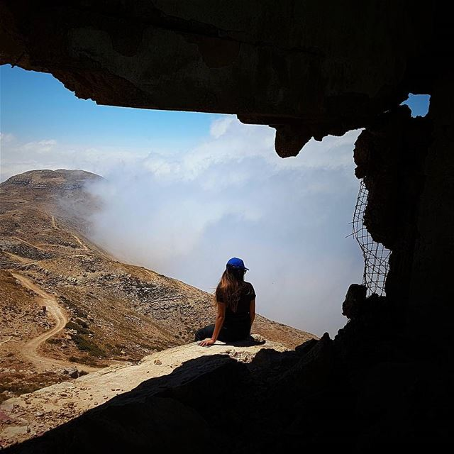 If you're not living on the edge, you're taking up too much space in this... (Falougha, Mont-Liban, Lebanon)