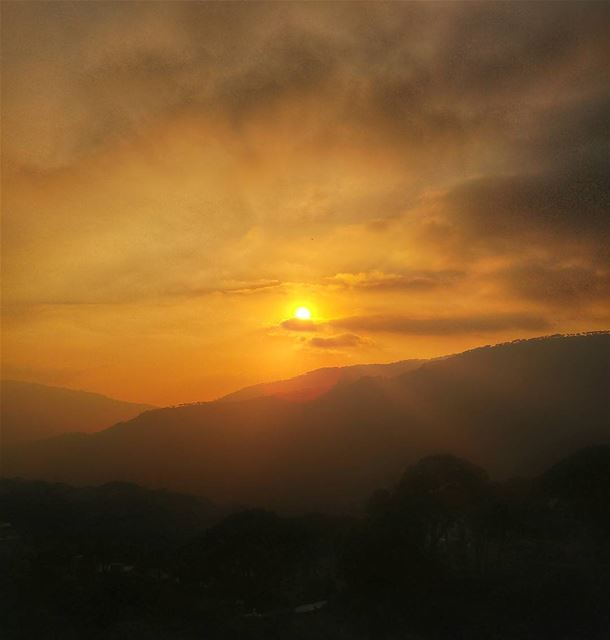 Lovely Sunset ❤ lebanon nature naturelovers natureporn landscape ... (Hammana)